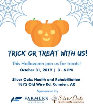 Halloween Camden AR - Farmers Bank and Trust graphic